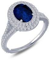 Lafonn Simulated-Diamond Sterling Sapphire