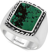Effy Men's Manufactured Turquoise Ring (3-9/10 ct. t.w) in Sterling Silver and Black Lacquer