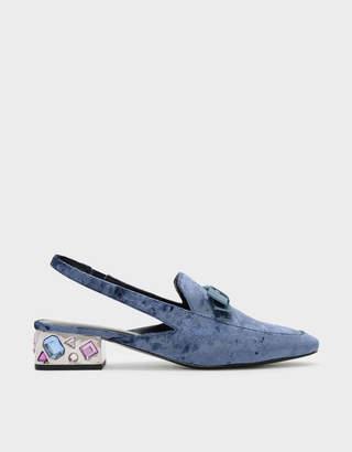Charles & Keith Embellished Heel Slingbacks