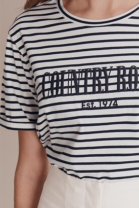 Country Road Stripe Heritage Embroidered T-Shirt