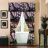 The Woods Camo Curtain & Valance 5 Piece Drape Set Pink