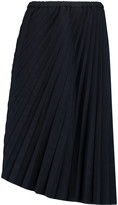 Chalayan Sunray pleated twill midi skirt