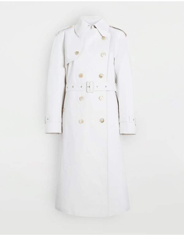 Maison Margiela White Long Trench Crafted By Mackintosh
