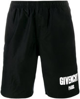 Givenchy logo printed swimming trunks