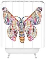 "DENY Designs Stephanie Corfee Corfee Artsy Moth in Pink Shower Curtain by 71""x74"")"