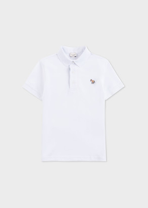 Paul Smith 8-16 Years White Zebra Polo Shirt