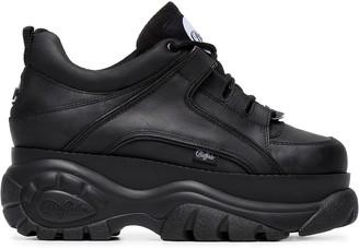 Buffalo David Bitton Black 1339 platform sneakers