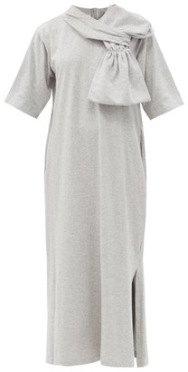 MM6 MAISON MARGIELA Cotton-jersey T-shirt Dress - Grey