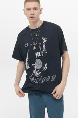 Urban Outfitters Saviour T-Shirt - black XS at