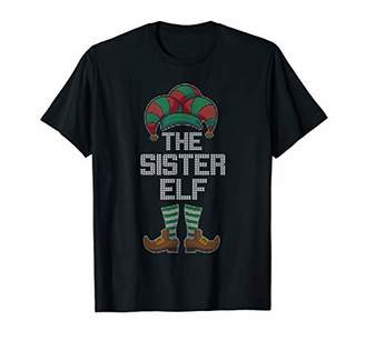 The Sister Elf Family Matching Ugly Christmas Sweater T-Shirt
