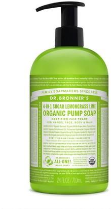 Dr. Bronner's 4-In-1 Sugar Organic Pump Soap 710Ml