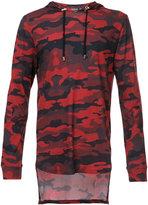 Balmain camouflage hooded sweatshirt