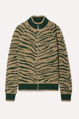 Madeleine Thompson Pongo Animal-print Wool And Cashmere-blend Bomber Jacket - Camel