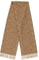 Sonia Rykiel Wool & Cashmere-Blend Logo Scarf