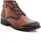Tan Lace-Up Ankle Boot - Men