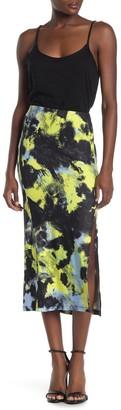 Socialite Pull-On Slit Midi Skirt