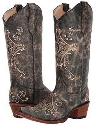 Corral Boots L5048 (Black/Bone) Cowboy Boots