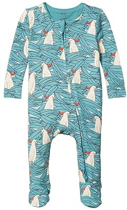 Cotton On The Snug Long Sleeve Zip Romper (Infant/Toddler) (Aqua Dream/Colin Cockatoo) Boy's Jumpsuit & Rompers One Piece