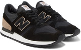 New Balance 770 Suede, Leather, Mesh and Shell Sneakers