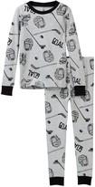 Petit Lem Hockey Goal Long Sleeve Pajama Set (Toddler & Little Boys)