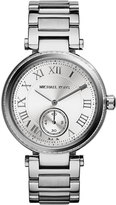 MICHAEL Michael Kors Mid-Size Silvertone Touch of Glitz Two-Hand Watch