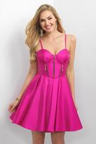Blush Lingerie Zip Detail Sweetheart A-Line Dress 11177