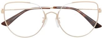 McQ Oversized Cat-Eye Frame Glasses