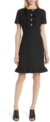 Tory Burch Button Front Ruffle Dress