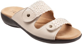 Trotters Adjustable Leather Slip-On Sandals - Terri