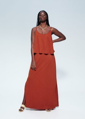MANGO Double-layer gown