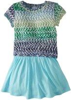 Splendid Sweater Dress Set (Toddler/Kid) - Light Blue-6X