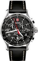 Victorinox Watch, Men's Chronograph Classic XLS Black Leather Strap 241444
