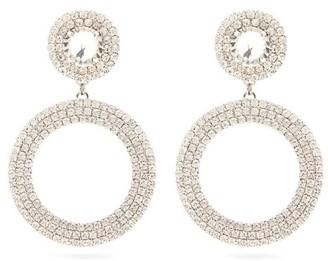 Alessandra Rich Crystal Circular-drop Clip Earrings - Womens - Crystal