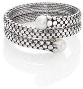 John Hardy Dot 11MM White Pearl & Sterling Silver Double Coil Bracelet