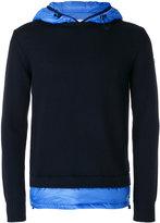 Moncler contrast hoodie - men - Polyamide/Virgin Wool/Feather/Goose Down - M
