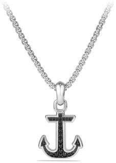 David Yurman Maritime Anchor Diamond& Sterling Silver Pendant
