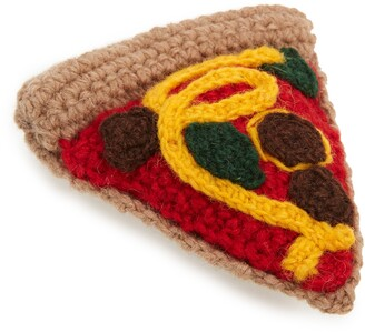 WARE OF THE DOG Hand Knit Wool Pizza Dog Toy
