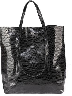 Marc Ellis Sevika Shopper Bag In Lizard-effect Leather
