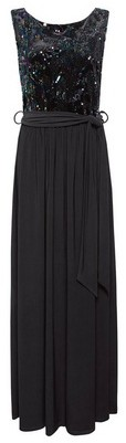 Dorothy Perkins Womens Showcase Black 'Vivie' Sequin Maxi Dress, Black