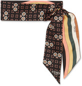 Fendi Reversible Printed Silk-twill Scarf - Black
