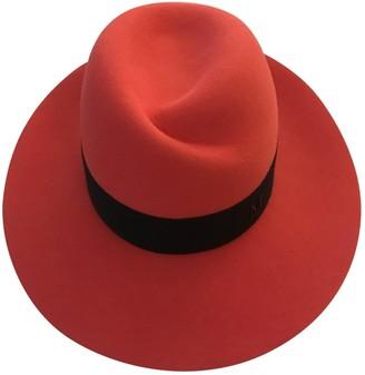 Maison Michel Orange Wool Hats