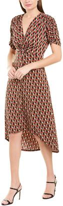 BCBGMAXAZRIA Twisted Midi Dress