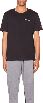 Champion Reverse Weave Small Script T-Shirt in Black | FWRD
