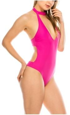 KENDALL + KYLIE Turtle Neck 1 Piece Swimsuit Women's Swimsuit