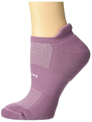 Feetures High Performance Cushion No Show Tab (Lilac) Women's No Show Socks Shoes