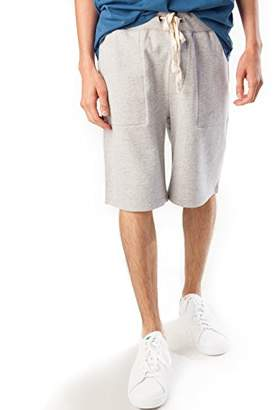 Rebel Canyon Young Men's Drawstring Waist Longline Jogger Pajama Gym Short with Pockets (