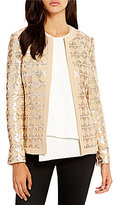 Katherine Kelly Cameron Open Front Sequin Jacket