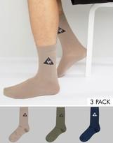 Le Coq Sportif 3 Pack Crew Socks In Multi 1710527