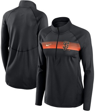Nike Women's Black San Francisco Giants Seam-To-Seam Element Half-Zip Performance Pullover Jacket