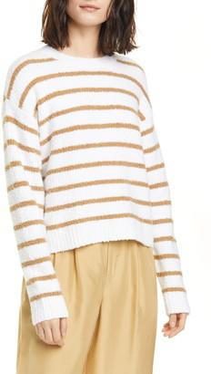 Vince Stripe Cotton Blend Sweater